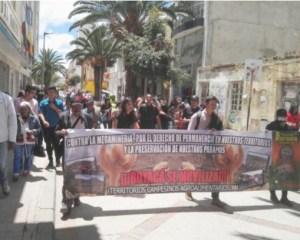 Campesinos en Sogamoso marchan por sus derechos