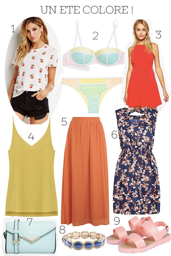sélection shopping été coloré