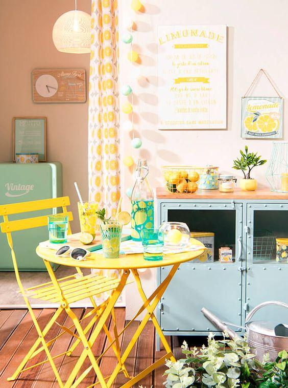 tendance mint&lemon deco