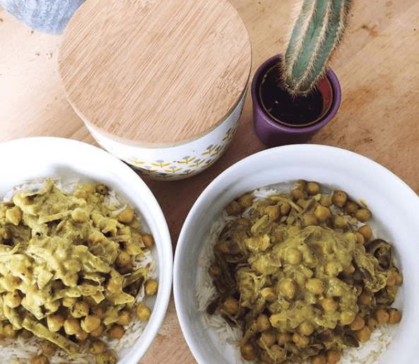 dahl pois chiches haricots verts