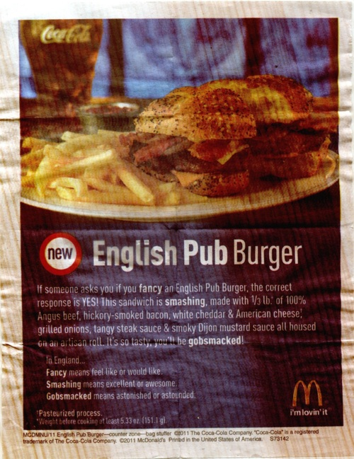 Now Testing McDonalds English Pub Burger  So Good Blog