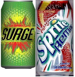 Discontinued Foods Bracket Surge vs Sprite Remix  So