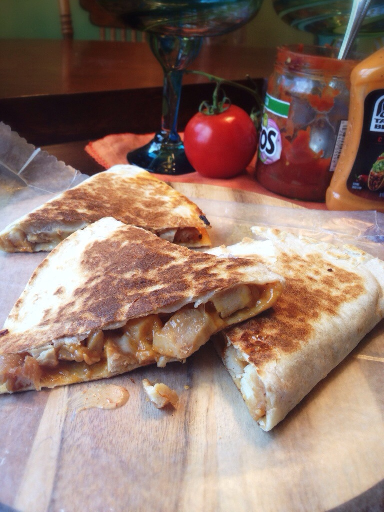 Taco Bell Chicken Quesadilla Recipe with Creamy Chipotle Sauce