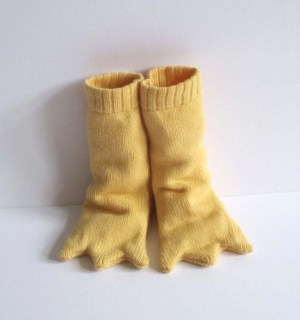 Knitted Bird Leg Baby Booties - Long and Yellow, Handmade Baby Gift outdoor wicker is a favorite of ours! So is this find by raychulgee.