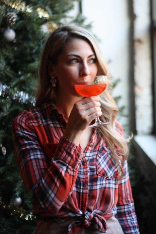 This festive Christmas Punch is the perfect boozy cocktail to serve a crowd. It's a little sweet, a little tart, a little bitter, and very boozy. With Aperol and grapefruit, this concoction makes a perfect apertif. This recipe can be scaled to serve as many as you like! Serve this punch at your next family or friendly holiday gathering! | #SoHappyYouLikedIt