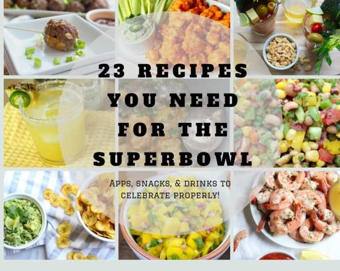 23 Recipes You Need to Celebrate the Super Bowl Properly | A roundup of apps, snacks, and drinks for you Super Bowl party!
