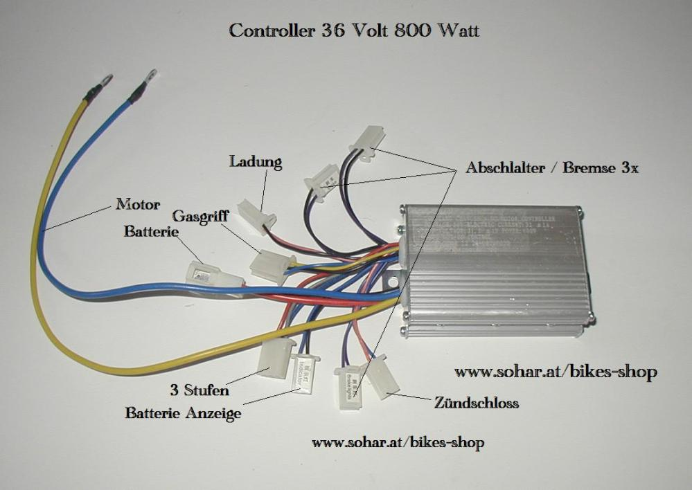 medium resolution of controller 36 volt 800 watt 2x3 6x2 bigfoot fahrtenreglercontroller 36 volt 800 watt 2x3 6x2 bigfoot