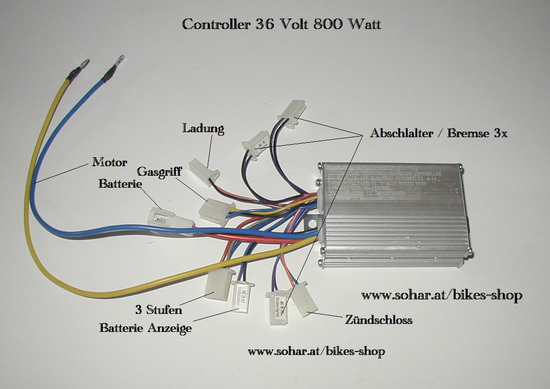 hight resolution of controller 36 volt 800 watt 2x3 6x2 bigfoot fahrtenreglercontroller 36 volt 800 watt 2x3 6x2 bigfoot