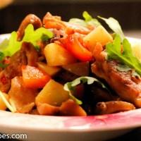 Kyllingfilet med sjampinjong, poteter og gulrøtter