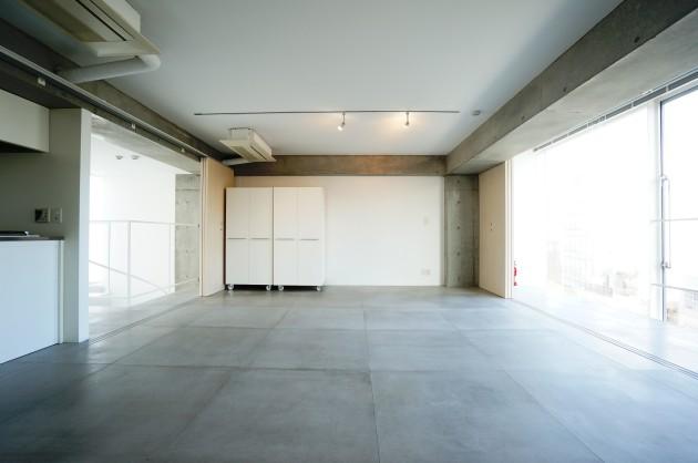 クラールハイト三宿305号室メゾネット上LDK仕切り戸開放|SOHO東京