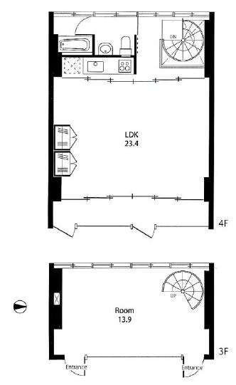 クラールハイト三宿305号室間取り図|SOHO東京