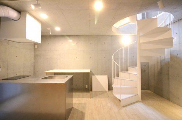 【募集終了】代々木八幡5分、螺旋階段が演出するデザイン空間。