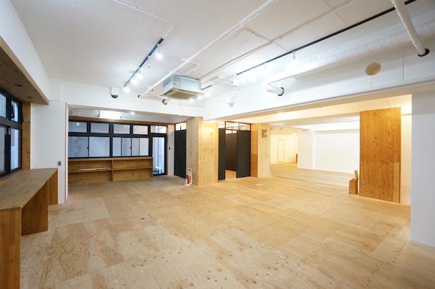 西新宿のリノベーション地下オフィス、約200㎡の居抜き空間