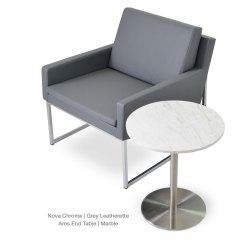 Easy Chair Nadir Steel Chrome Square Leg Sleeves Nova Metal Contemporary Occasional Chairs Sohoconcept