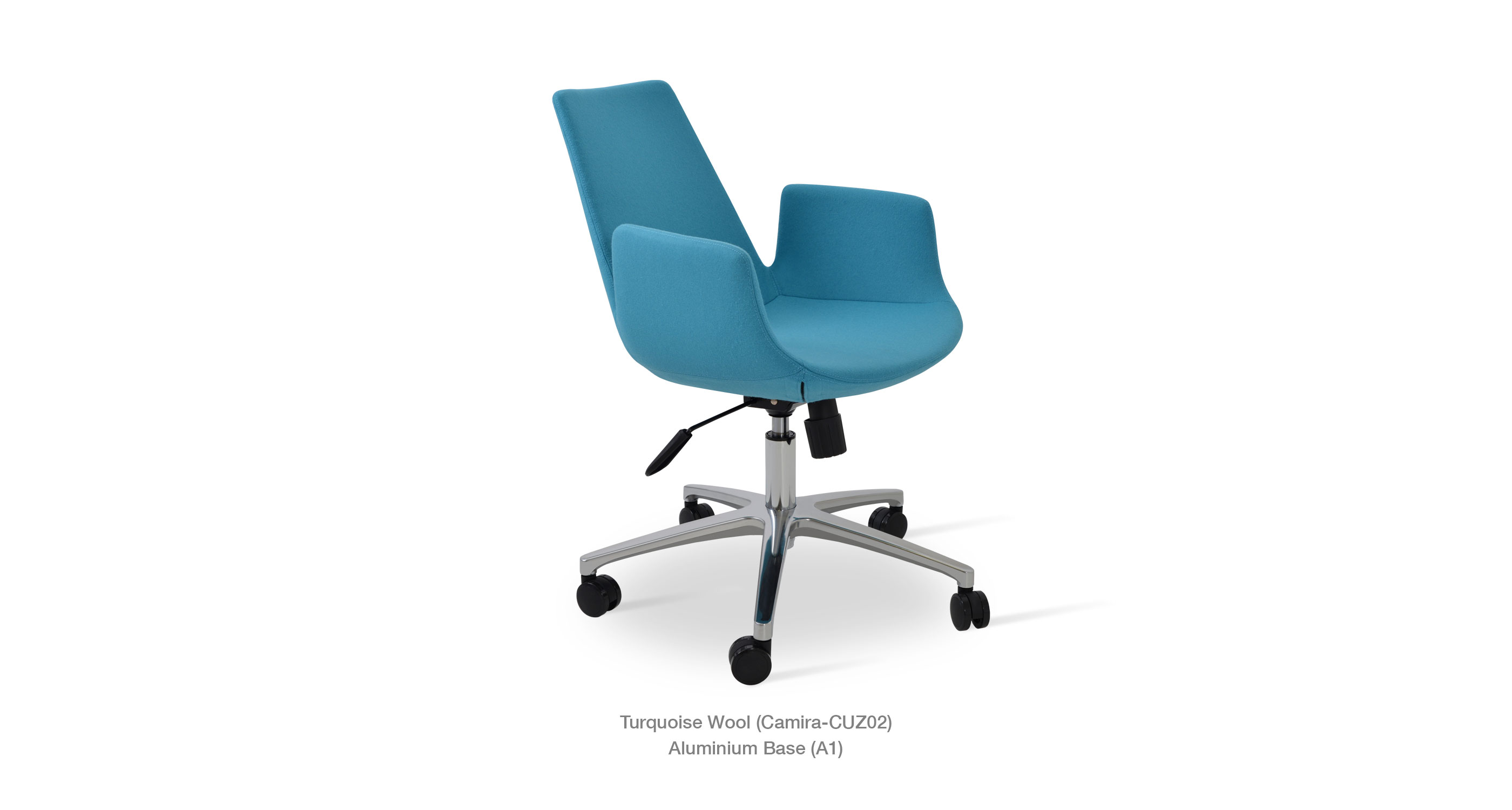 turquoise office chair throw on eiffel arm contemporary chairs sohoconcept camira