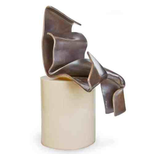 Modesty-unique-48x32x37cm-BRONZE-table-top-bronze-figurativerachel-boymal-australian-sculpture-abstract-female-figure