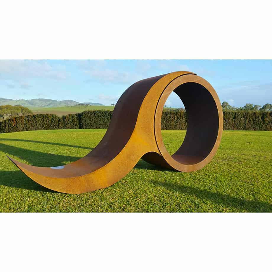 Barrell-Wave-CORTEN-STEEL-[outdoor,landmark]-jason-aslin-australian-outdoor-large--garden-scultpture