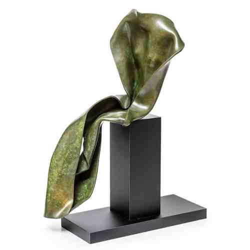 Contemplation-56x28x30cm-(Unique)-BRONZE-[bronze,-table-top,-figurative]-rachel-boymal-sculpture-abstract-australian-female-body-bronze