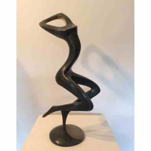 Dance-Moment-#3--BRONZE-[tabletop,-bronze,-figurative]-smagarinsky-female-dance-sculpture-australian-artist