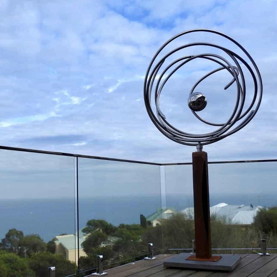Eye-of-the-storm-220x110cm--STAINLESS---[stainless,outdoor,free-standing]-Rudi-Jass-australian-garden-sprial-sphere--australia