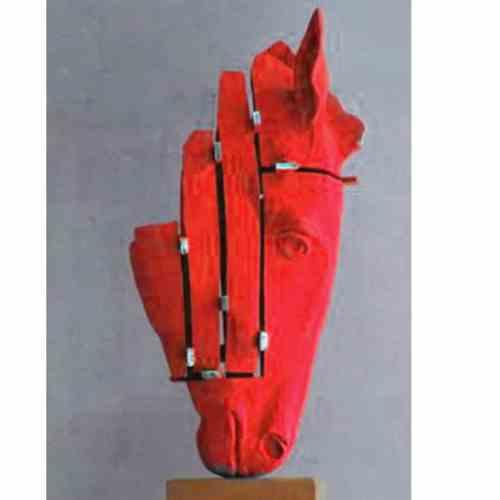 One-the-nose-32cm--BRONZE-[bronze,-table-top]-Stephen---Glassborow---sculpture-abstract-australian-horse-bronze
