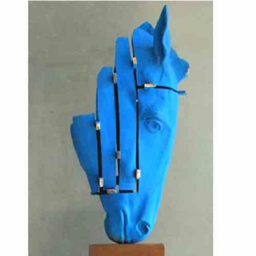 One-the-nose-32cm--BRONZE-[bronze,-table-top]-Stephen---Glassborow-sculpture-abstract-australian-horse-bronze