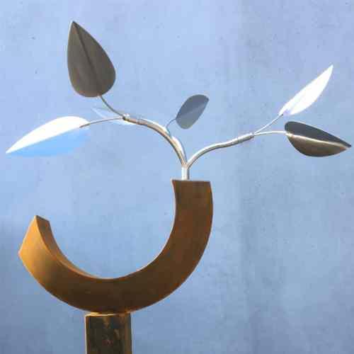 Pod-[series]--STAINLESS-_-CORTEN-[stainless,outdoor,-free-standing]-Rudi-Jass-australian-garden-leaves-sculpture-natural-native-australia