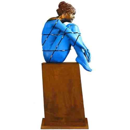 Space-Girl-125x40cm--BRONZE-[bronze,-figurative]-Stephen-Glassborow-sculpture-abstract-australian-female-body-bronze