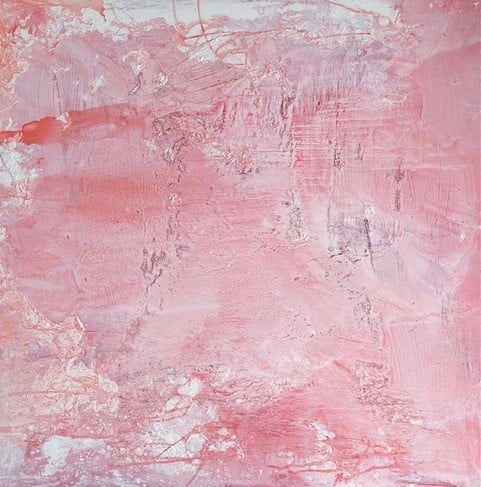 australian painting abstract pink