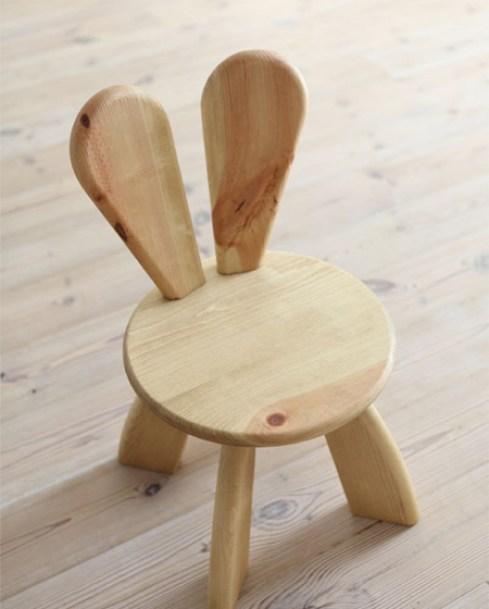 Móveis Easter: Coelho cadeira por Hiromatsu