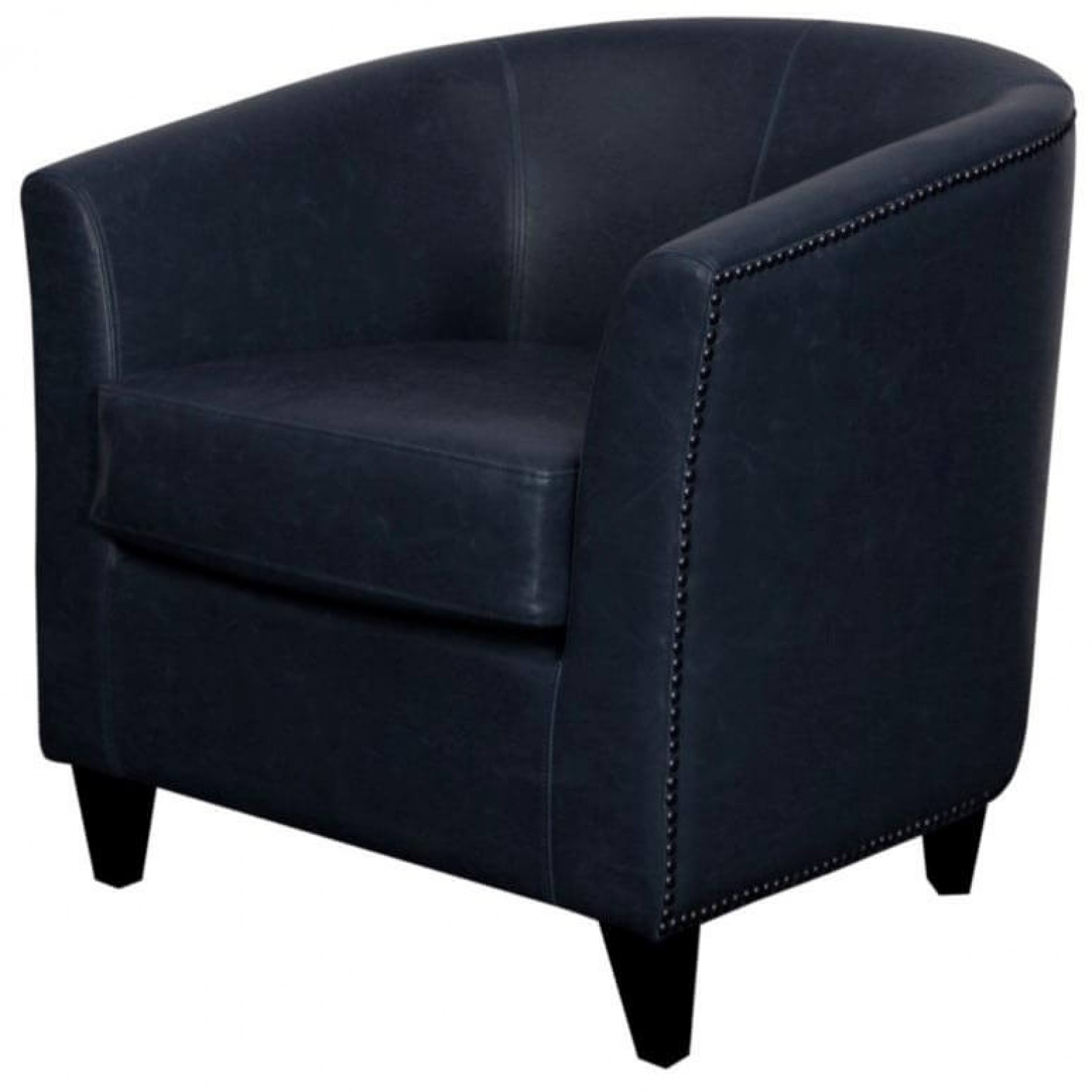 leather tub chair reclining toddler orson bonded black legs vintage blue by npd new pacific direct