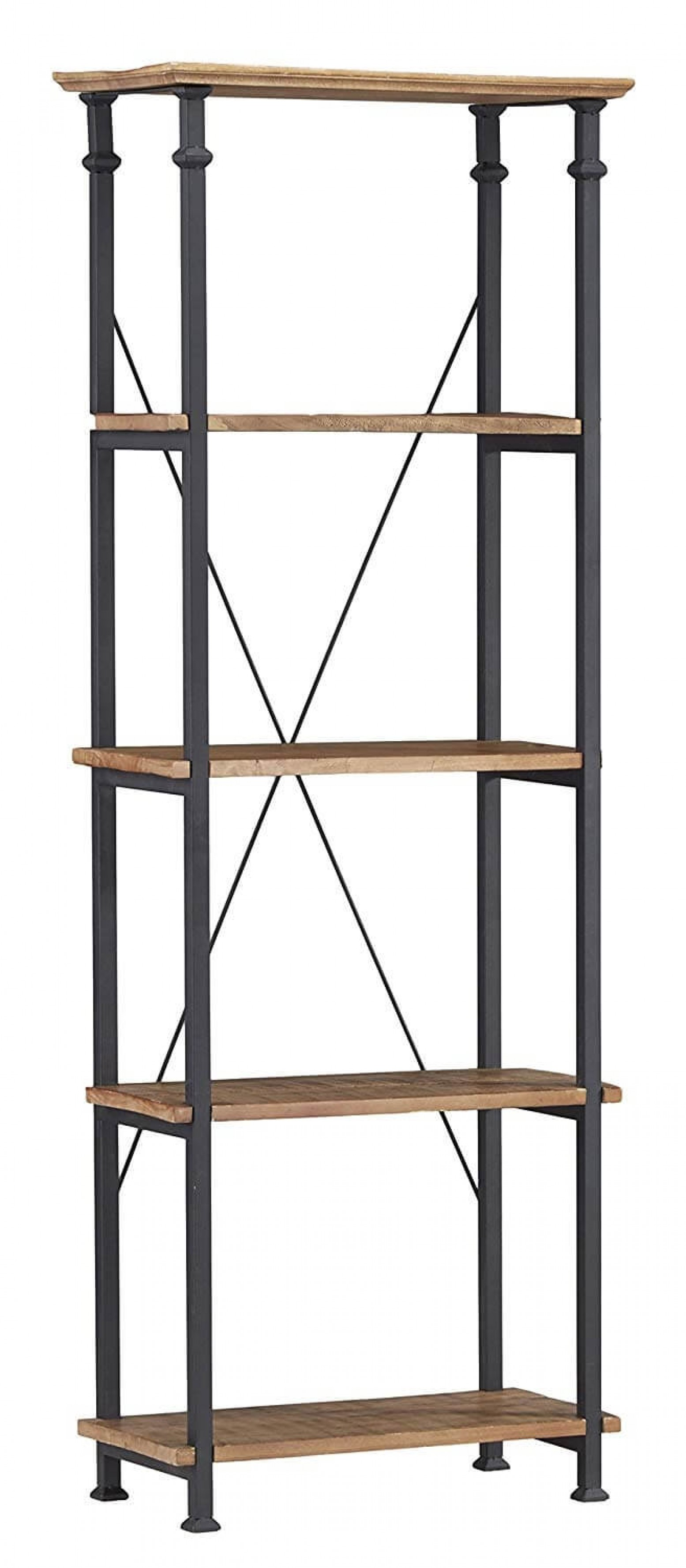 Factory Industrial Wood Bookcase