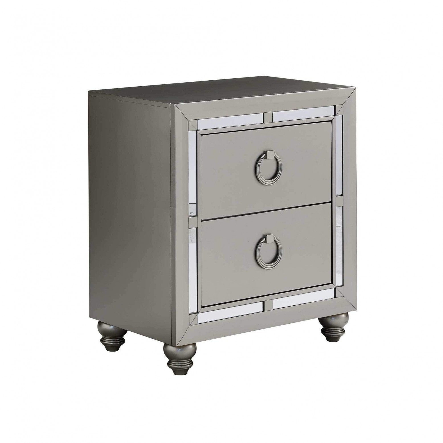 Riley Tufted Bedroom Set Silver by Global Furniture USA