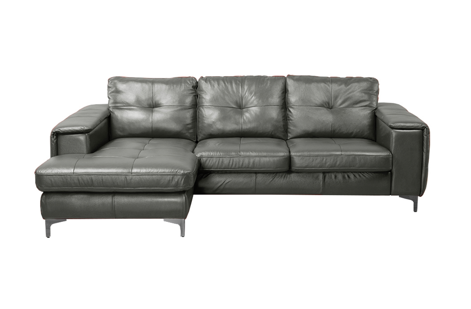 right arm facing sofa left chaise savvy leather sofas frankfurt sectional stone grey