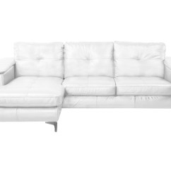 Right Arm Facing Sofa Left Chaise Italian White Leather Frankfurt Sectional Pure