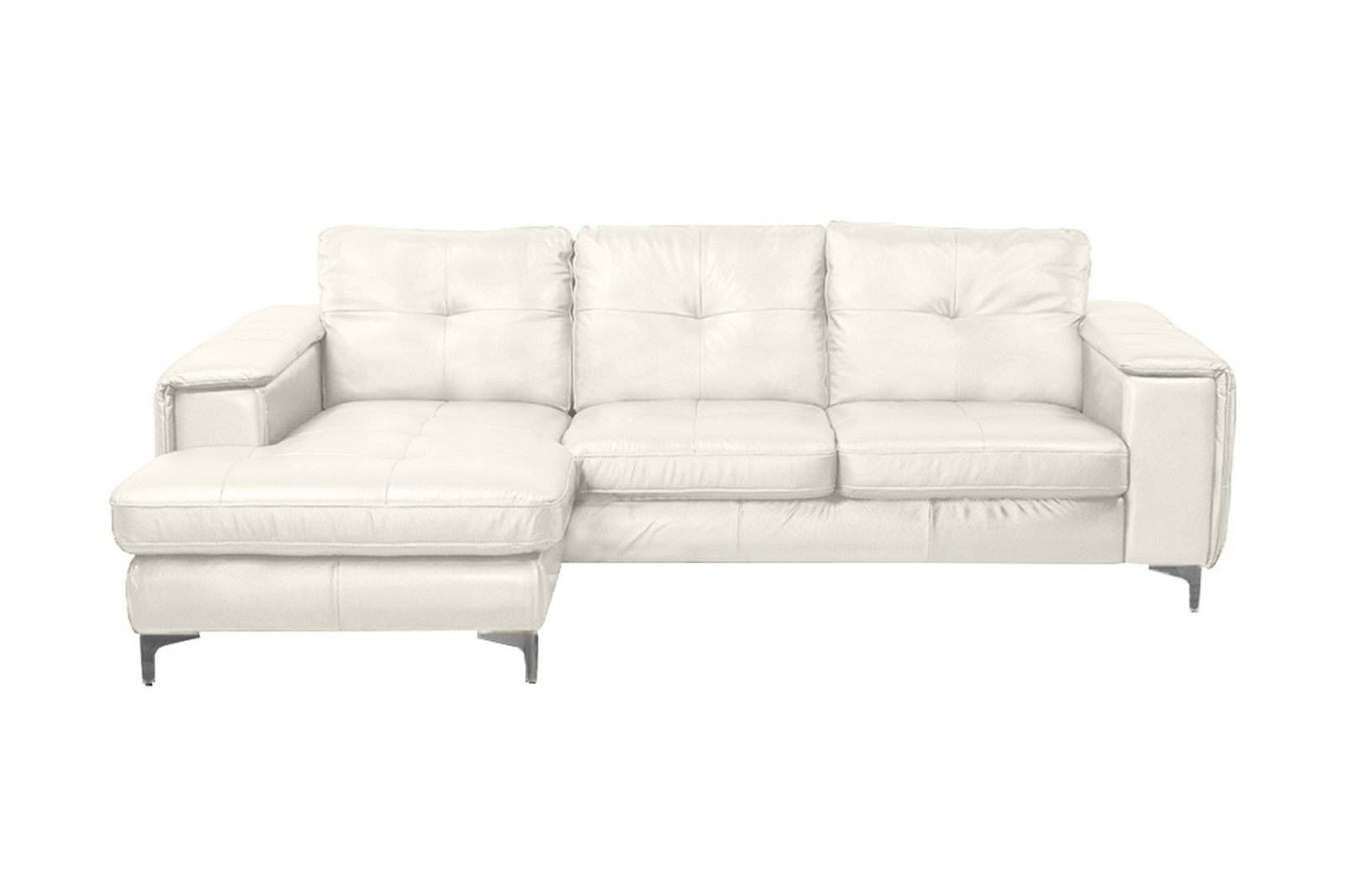 left arm return sofa rattan half moon set mixed chocolate frankfurt sectional chaise facing snow white by