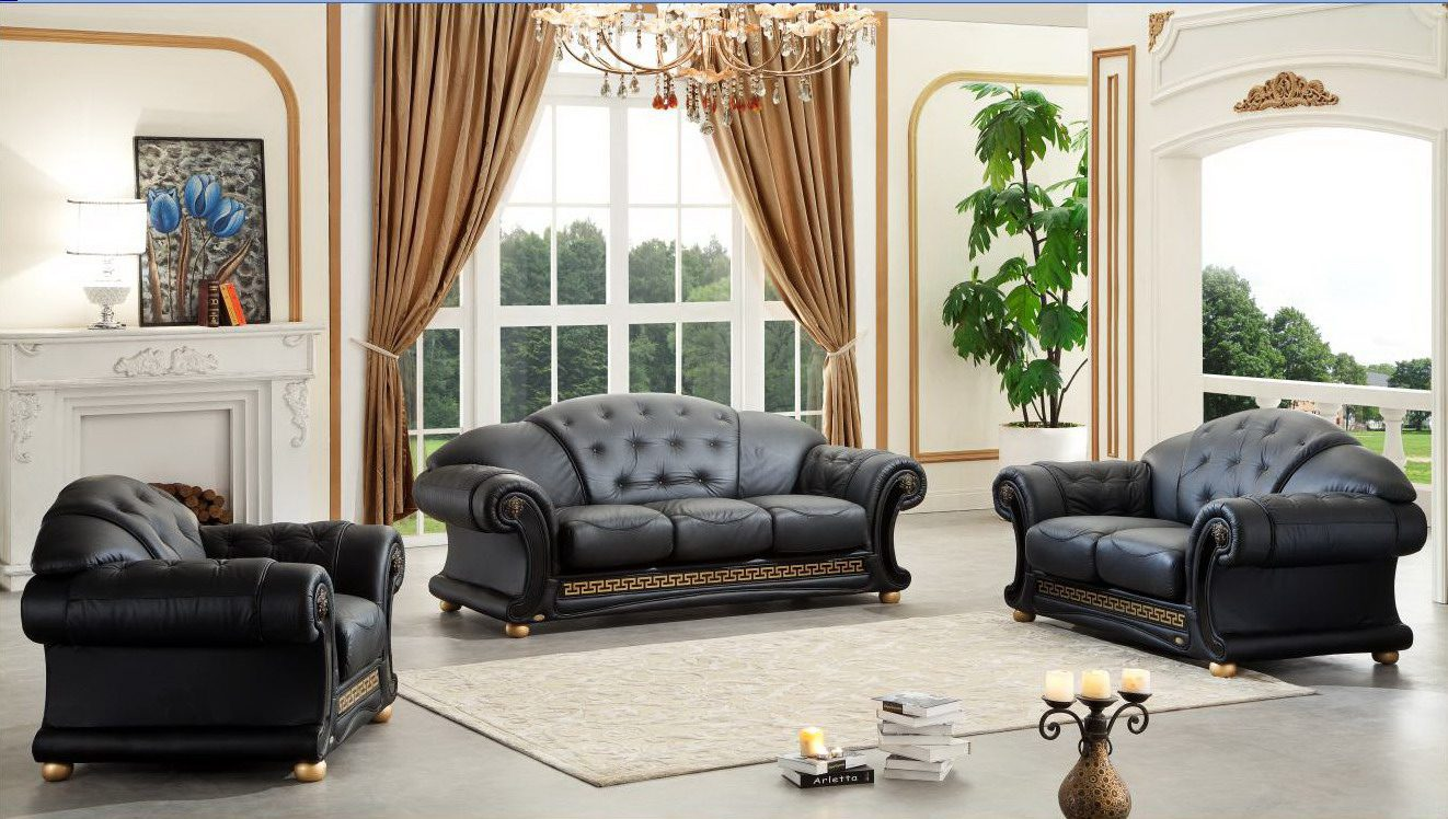 Versace Living Room Set, Black Buy Online at Best Price
