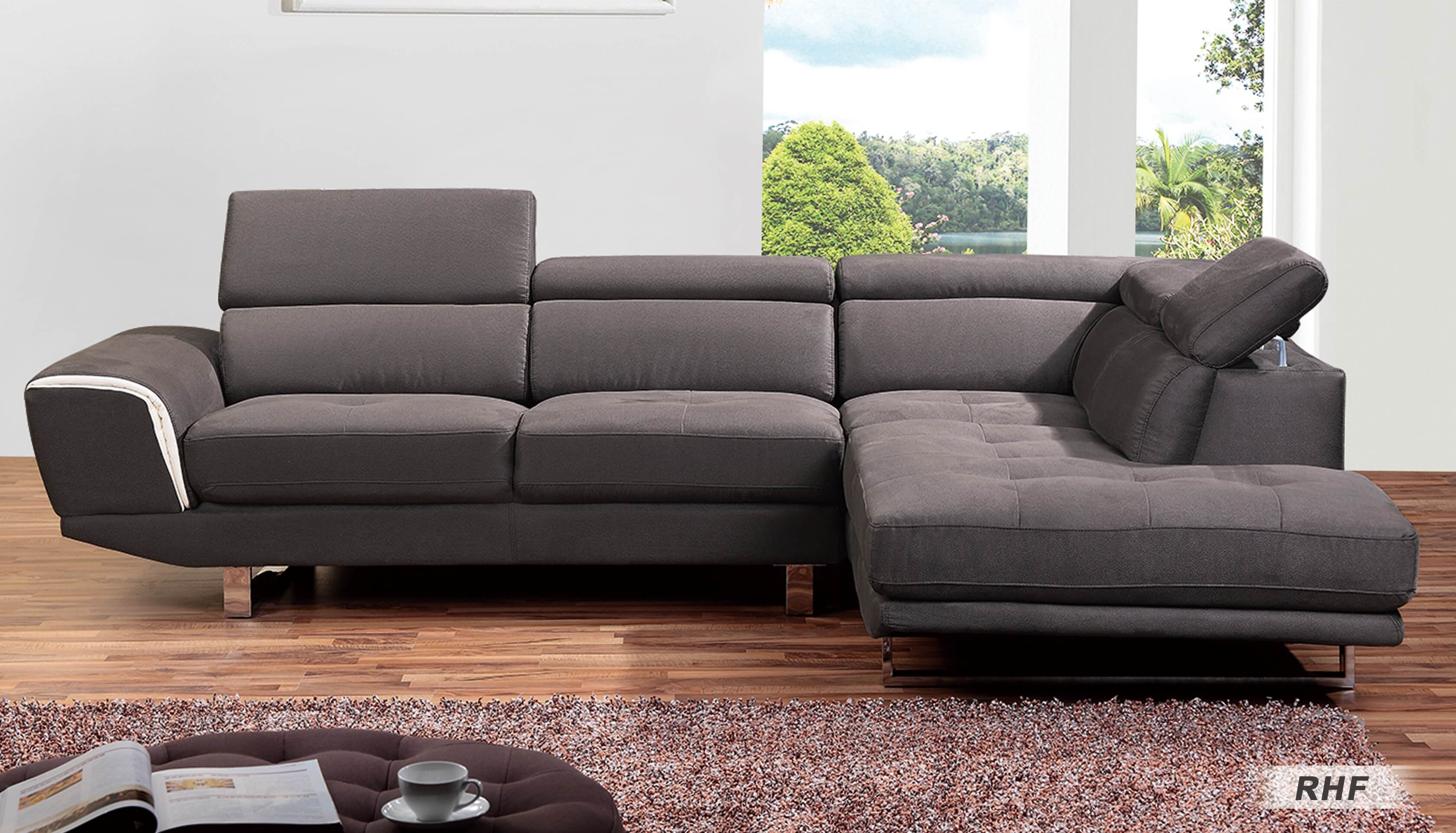 right arm facing sofa left chaise ashley walnut 0890 sectional by at home usa