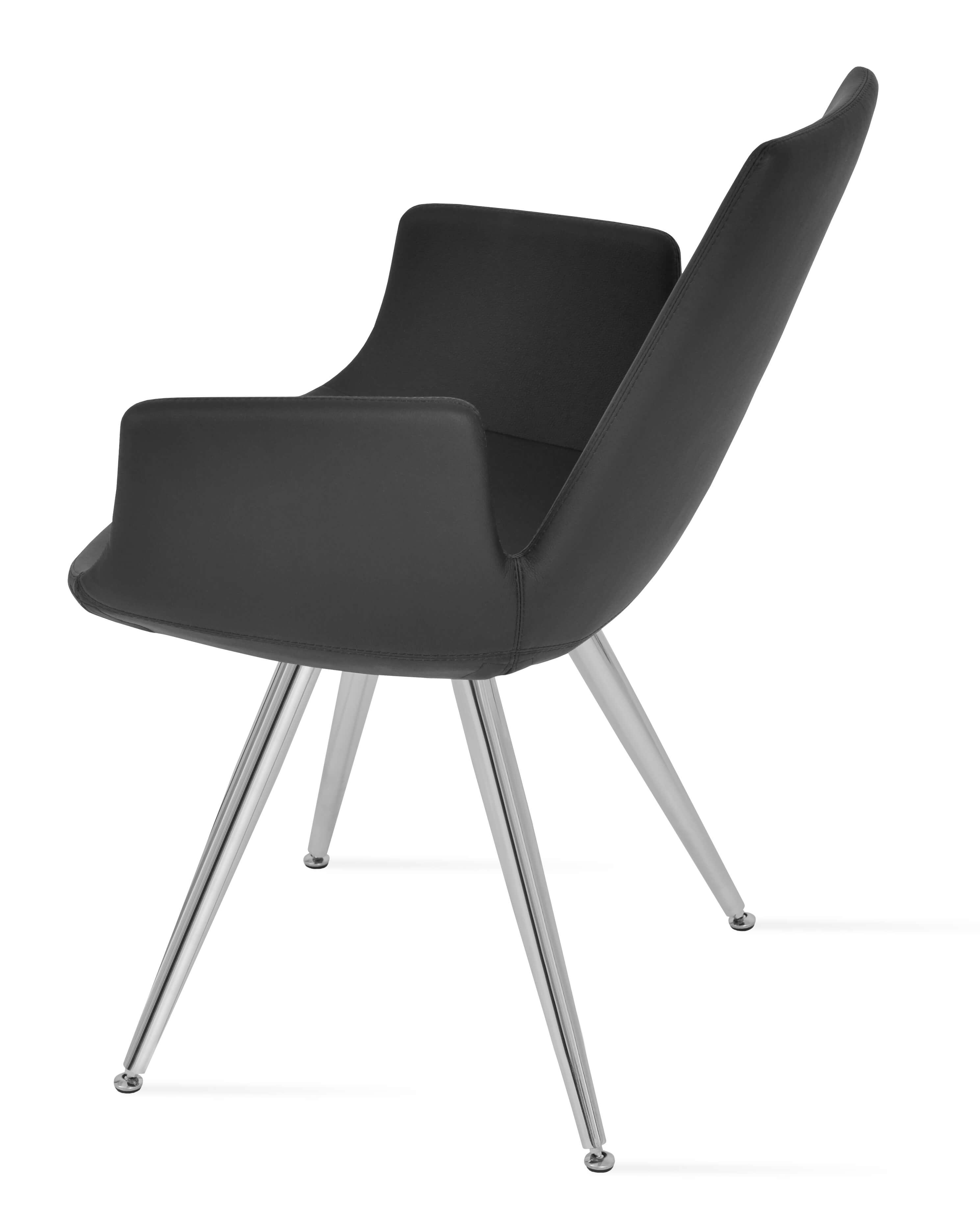 steel chair leg caps metoo portable high eiffel arm star stainless white ppm