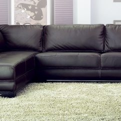 Left Arm Sofa Sectional Fuschia Sleeper Sf6573b Chaise Facing Brown By