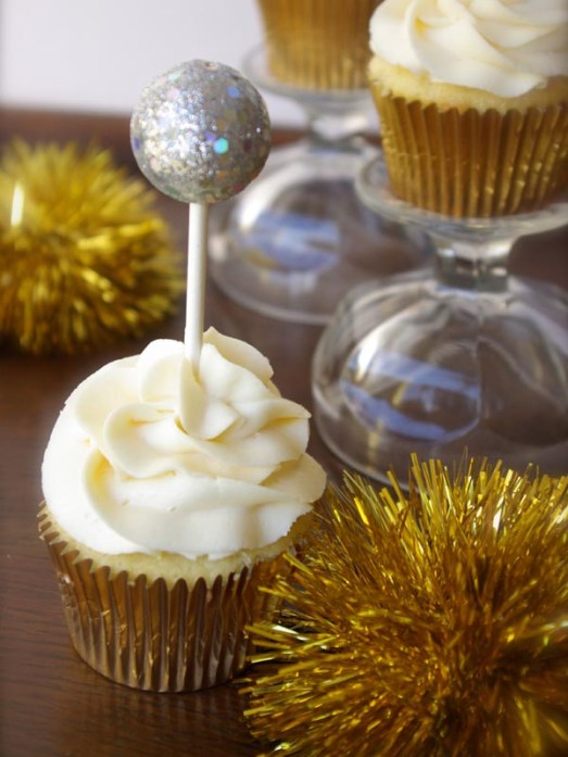 New Years Ball Drop Cupcake Topper