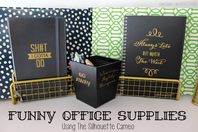 Funny Office Supplies Silhouette Cameo Project  Free