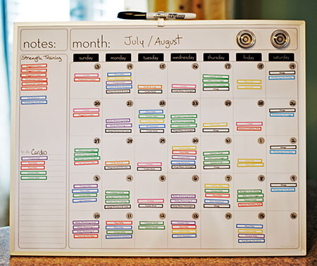My Road to Getting Fit: The Workout Calendar