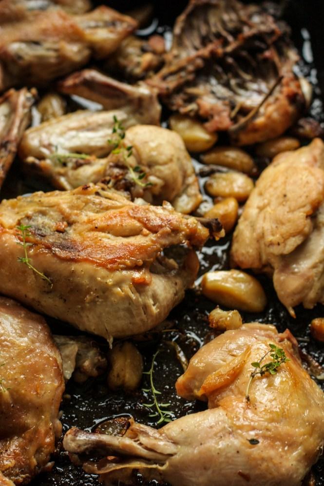 Pečena piletina sa 40 čena belog luka