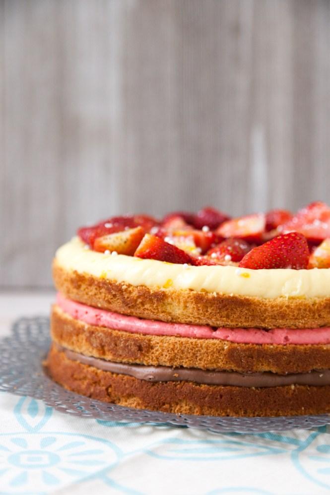 Torta sa poslastičarskim kremom