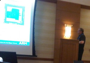 Jean Luc Pelloie, Director of SOI Technology, ARM, presenting at the 2011 IEEE SOI Conference.