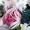 Bouquet de mariée en fleurs stabilisée et pllumes Soiéphémère plumasserie