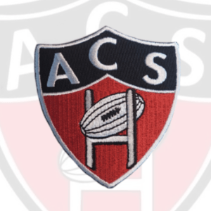 ÉCUSSON BRODERIE LOGO AC SOISSONS RUGBY