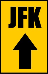 JFK Road Sign