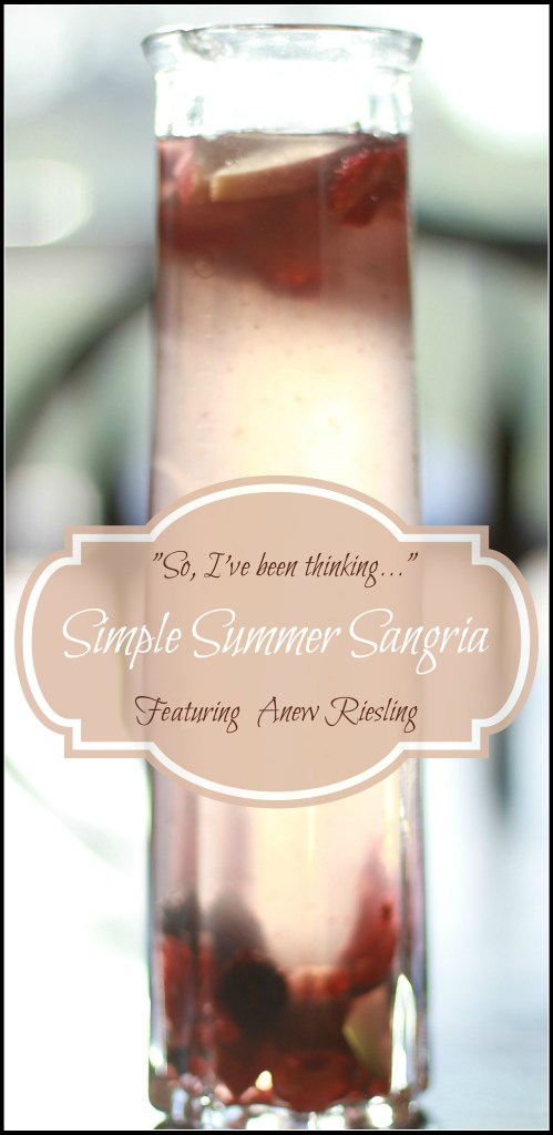 Are You Feeling It Simple Summer Sangria